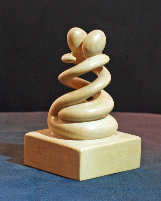 Carving Spiral Embrace